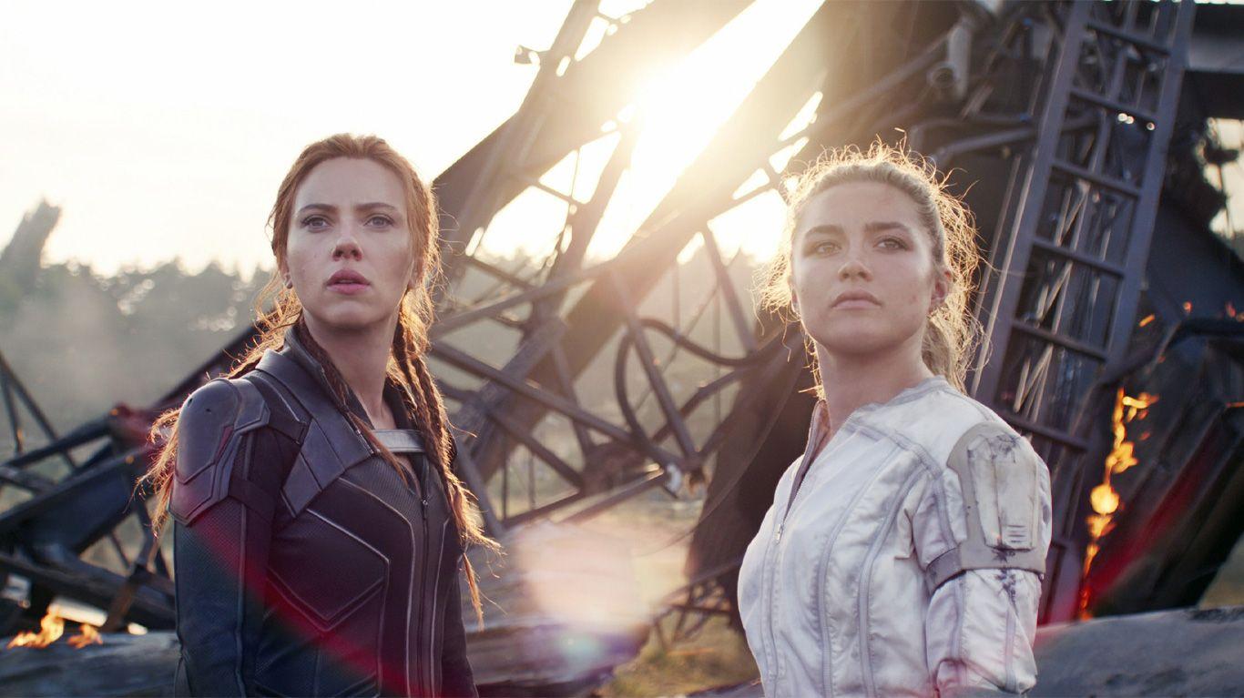 "Scarlett Johan and Florence Pugh in ""Black Widow."""