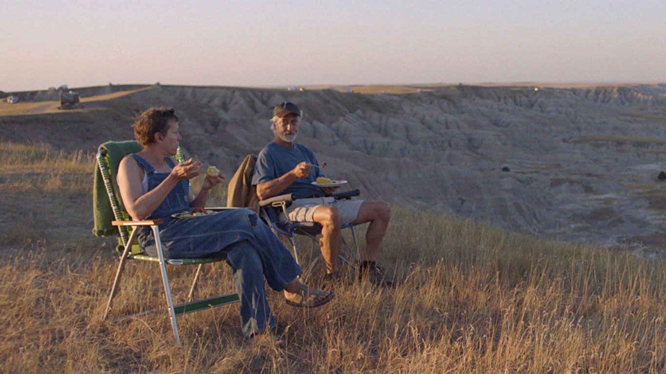 """Frances McDormand and David Strathairn in """"Nomadland."""""""