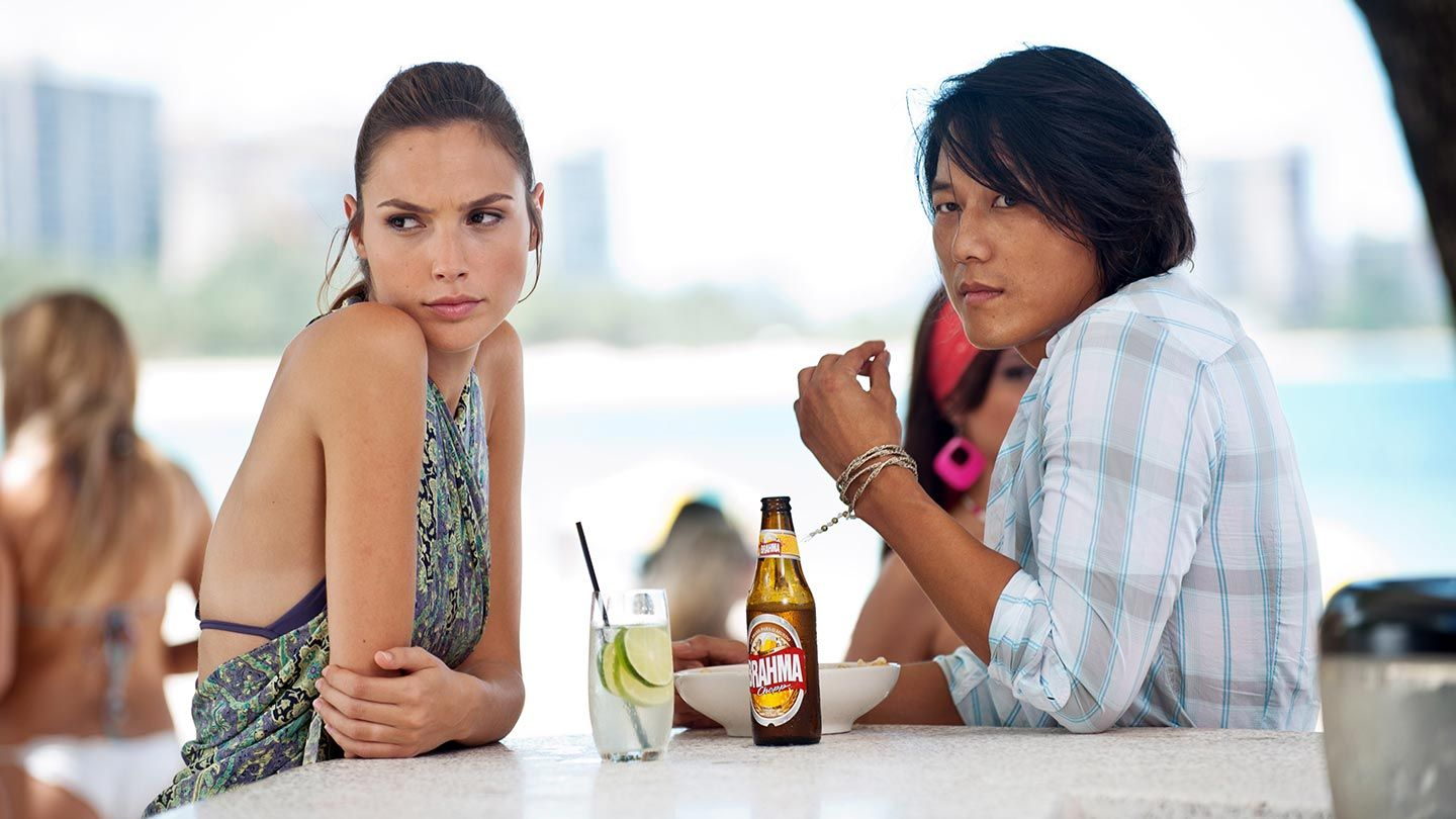 """Gal Gadot and Sung Kang in """"Fast Five."""""""