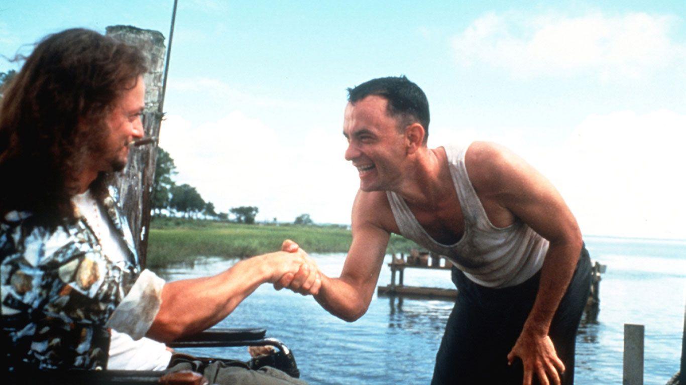 "Gary Sinise and Tom Hanks in ""Forrest Gump."""
