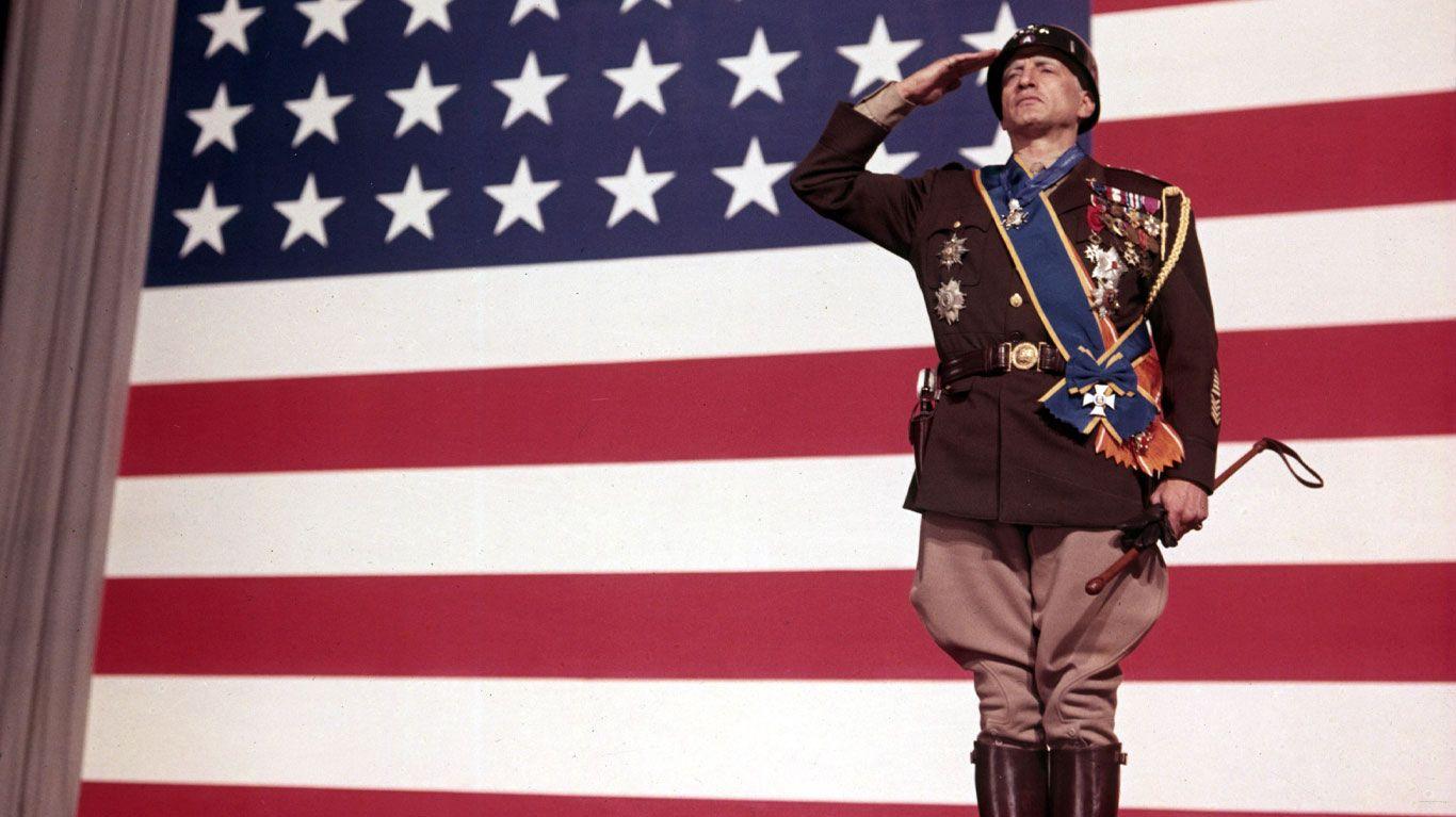 "George C. Scott in ""Patton."""