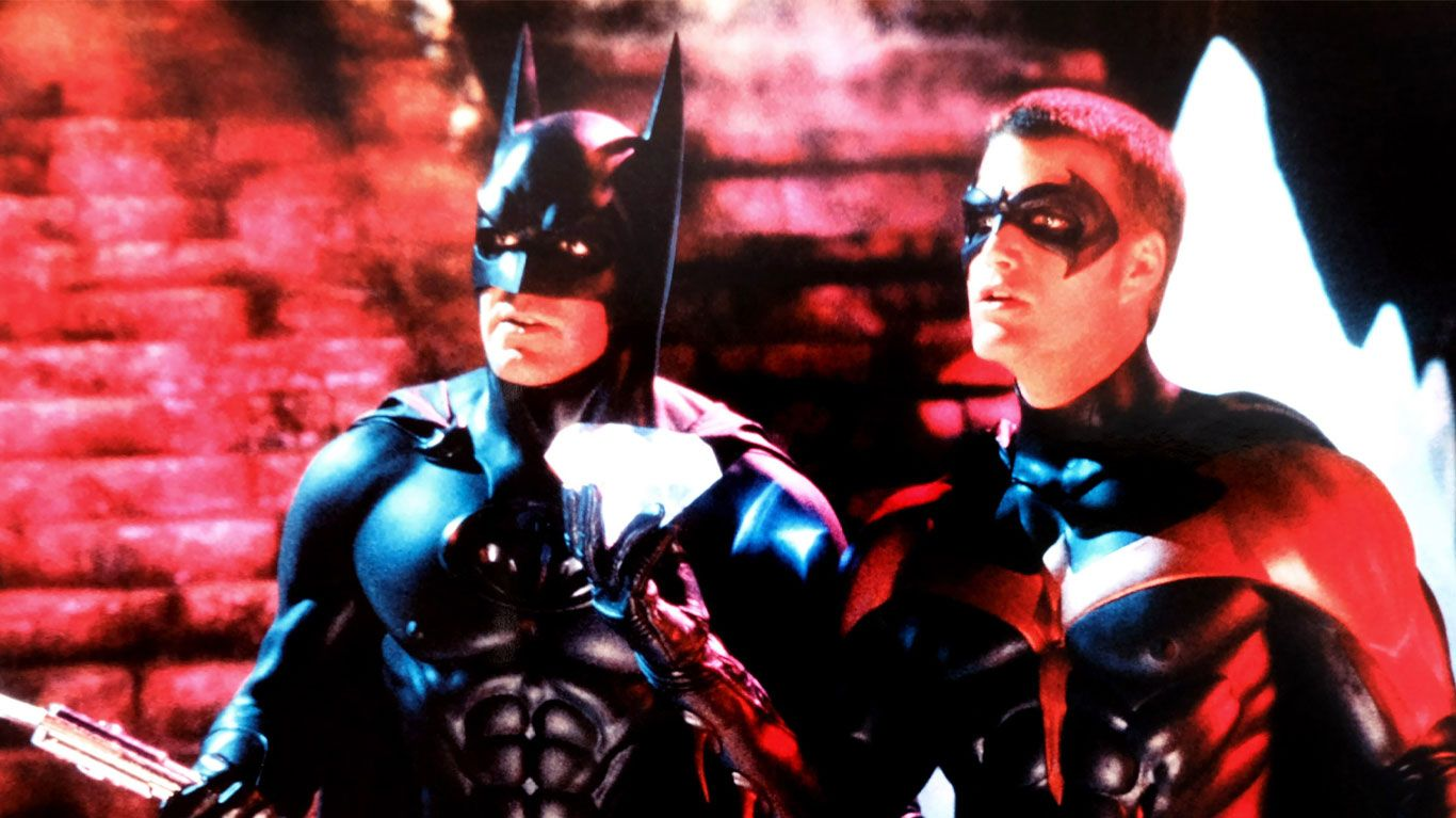 """George Clooney, Chris O'Donnell in """"Batman & Robin."""""""