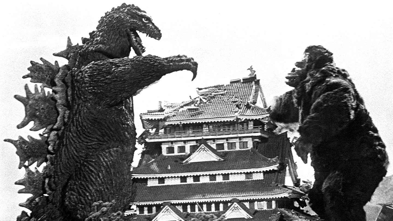 """Godzilla and King Kong in """"King Kong vs. Godzilla."""""""