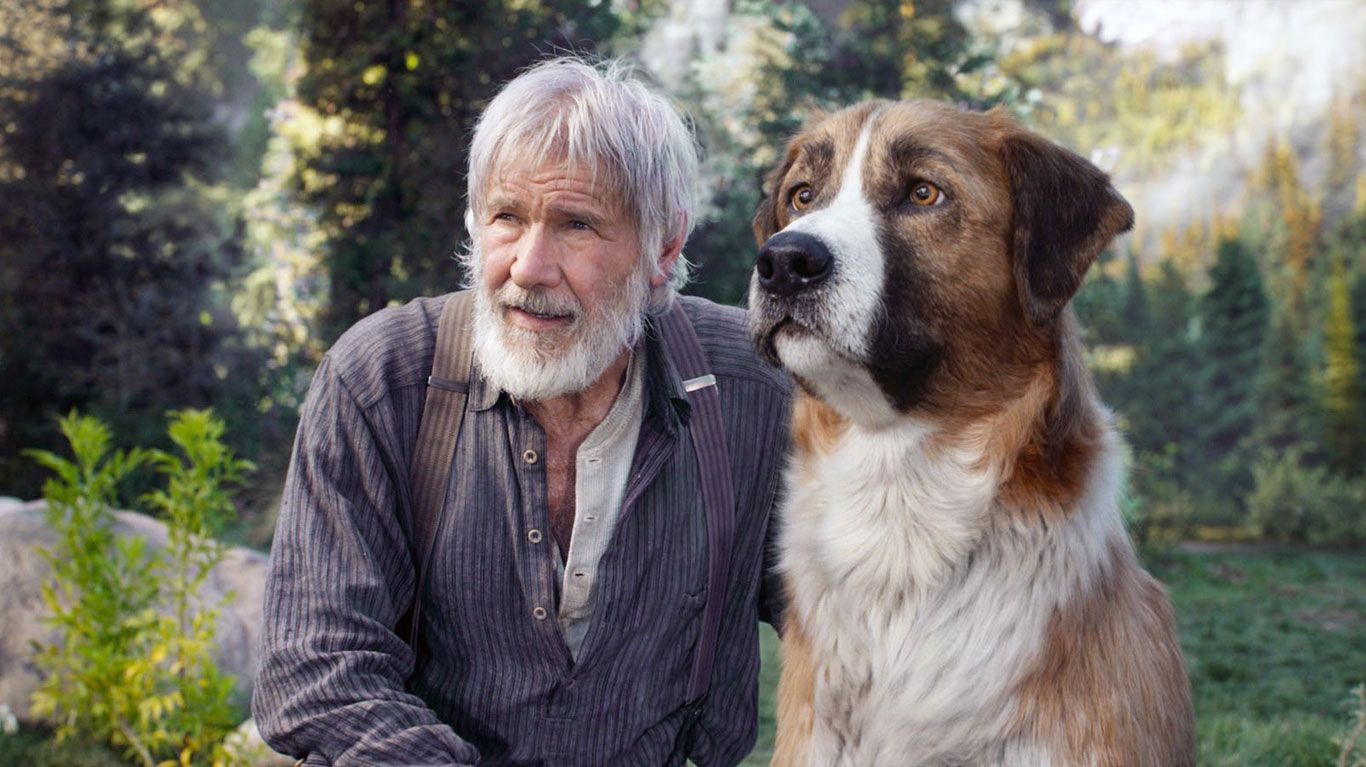 """Harrison Ford in """"The Call of the Wild."""" © 20th Century Studios / courtesy Everett Collection"""