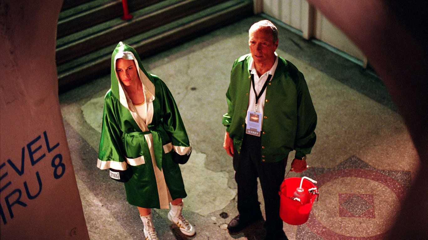"""Hilary Swank and Clint Eastwood in """"Million Dollar Baby."""""""