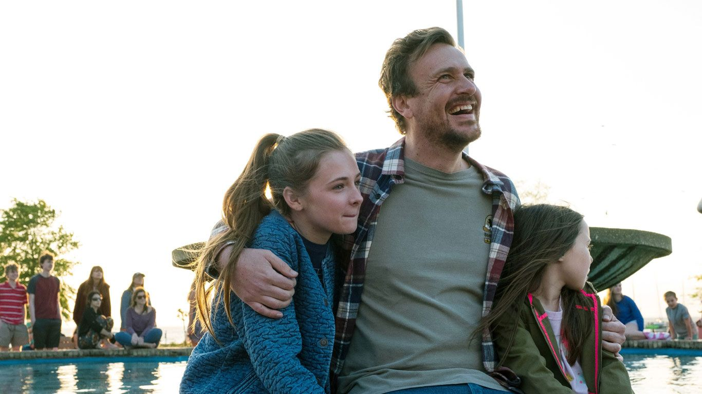 """Isabella Kai Rice, Jason Segel and Violet McGraw in """"Our Friend."""""""