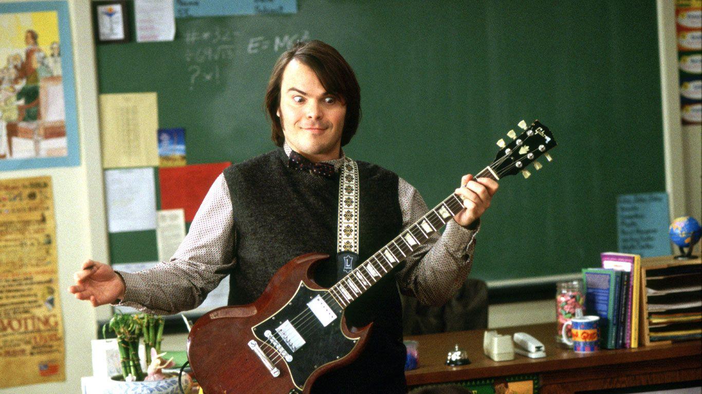 "Jack Black in ""School of Rock."""
