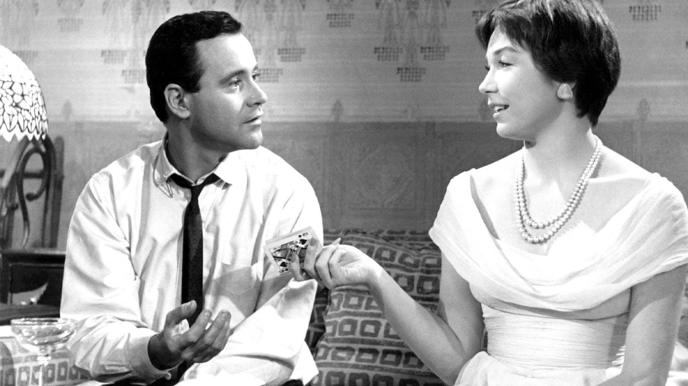 """Jack Lemmon and Shirley MacLaine in """"The Apartment."""""""