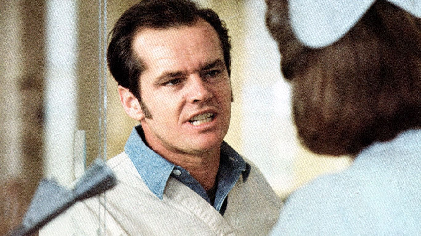 """Jack Nicholson in """"One Flew Over the Cuckoo's Nest."""""""