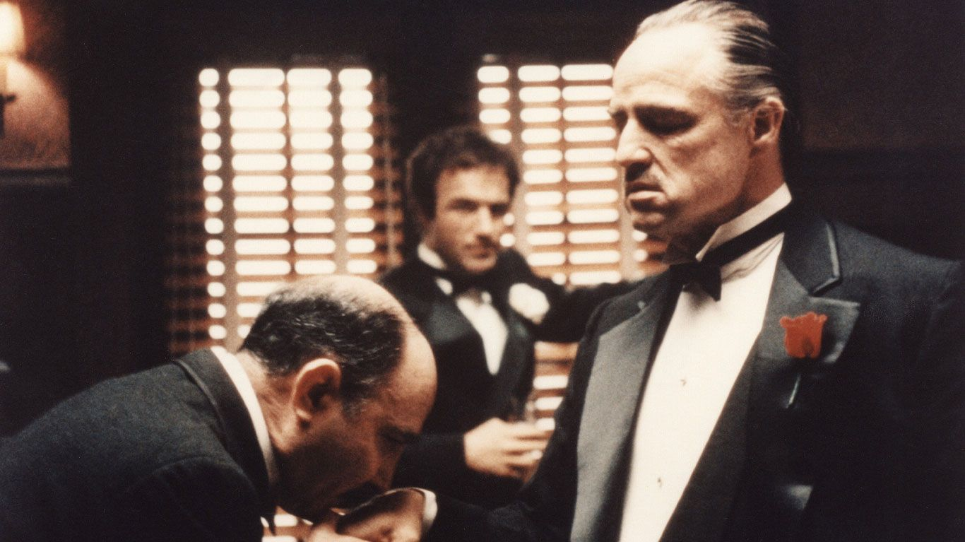 """James Caan and Marlon Brando in """"The Godfather."""""""