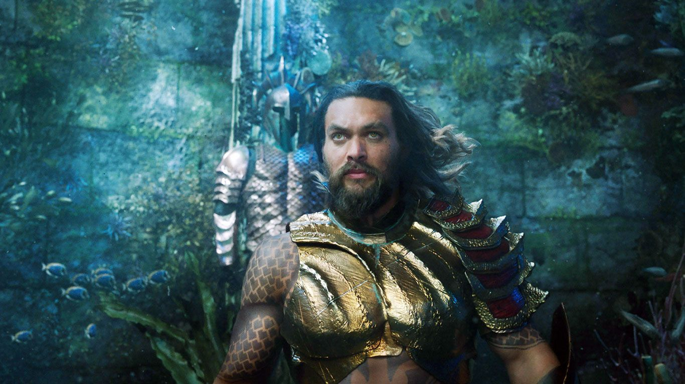 "Jason Momoa in ""Aquaman."""