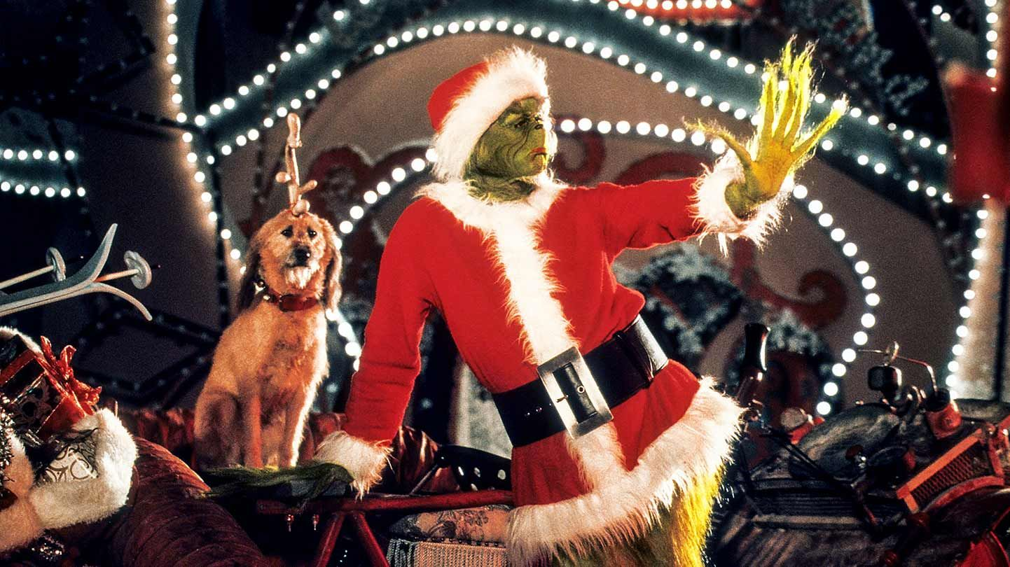 """Jim Carrey in """"How the Grinch Stole Christmas."""""""