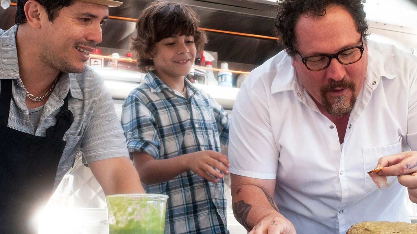 """John Leguizamo, Jon Favreau and Emjay Anthony in """"Chef"""""""