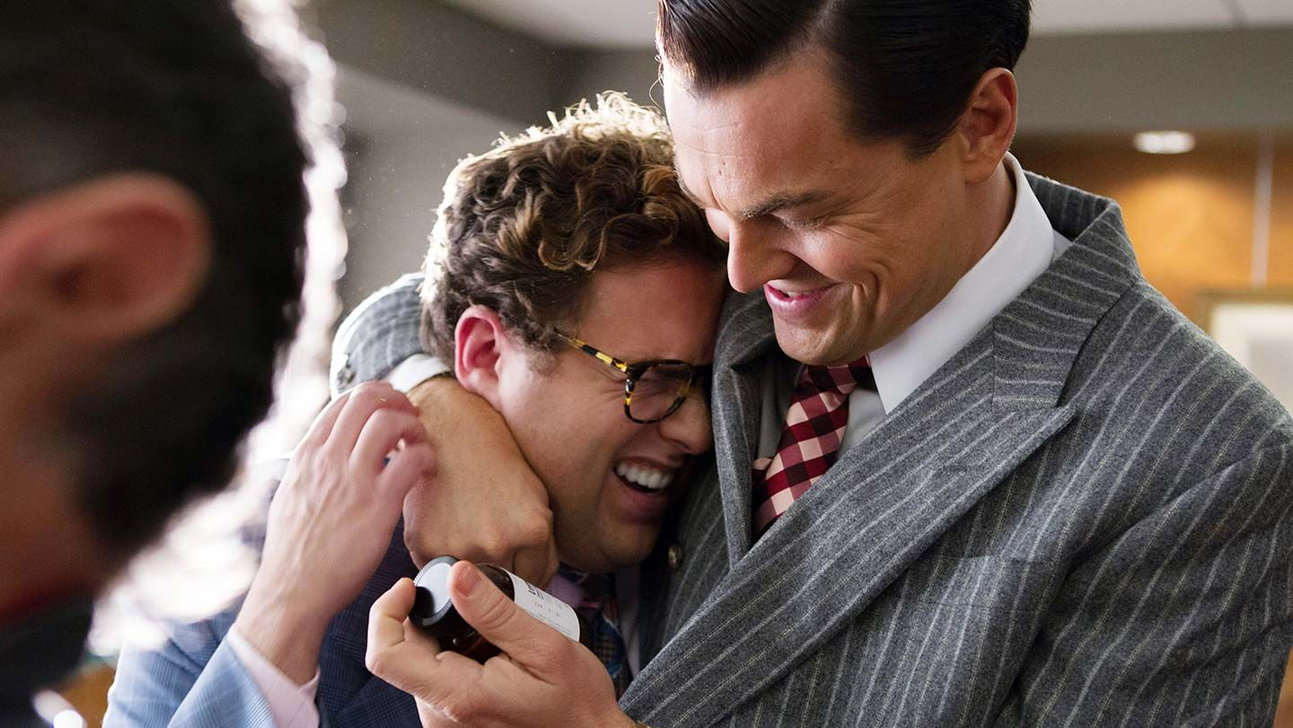 """Jonah Hill and Leonardo DiCaprio in """"The Wolf of Wall Street."""""""