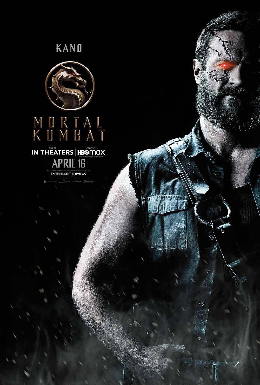 """Josh Lawson as Kano in """"Mortal Kombat."""" © Warner Bros."""