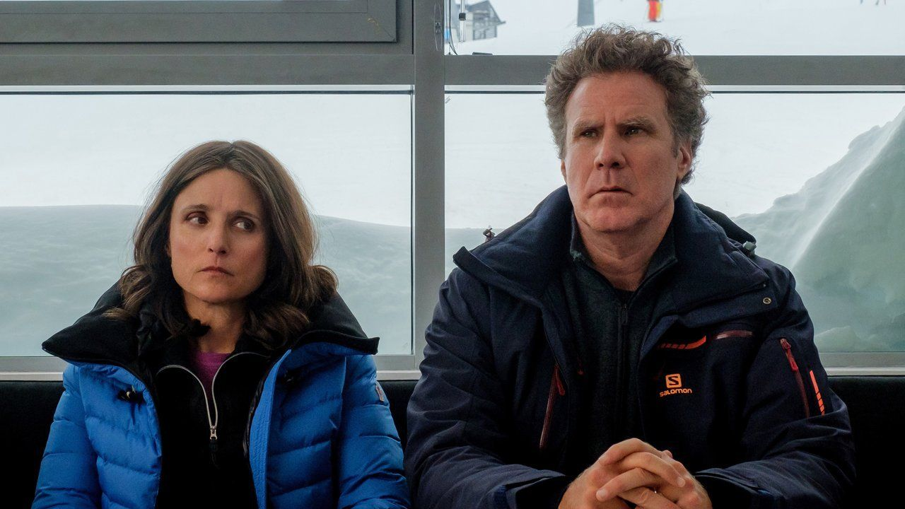 """Julia Louis-Dreyfus and Will Ferrell in """"Downhill."""" © Fox Searchlight Pictures."""
