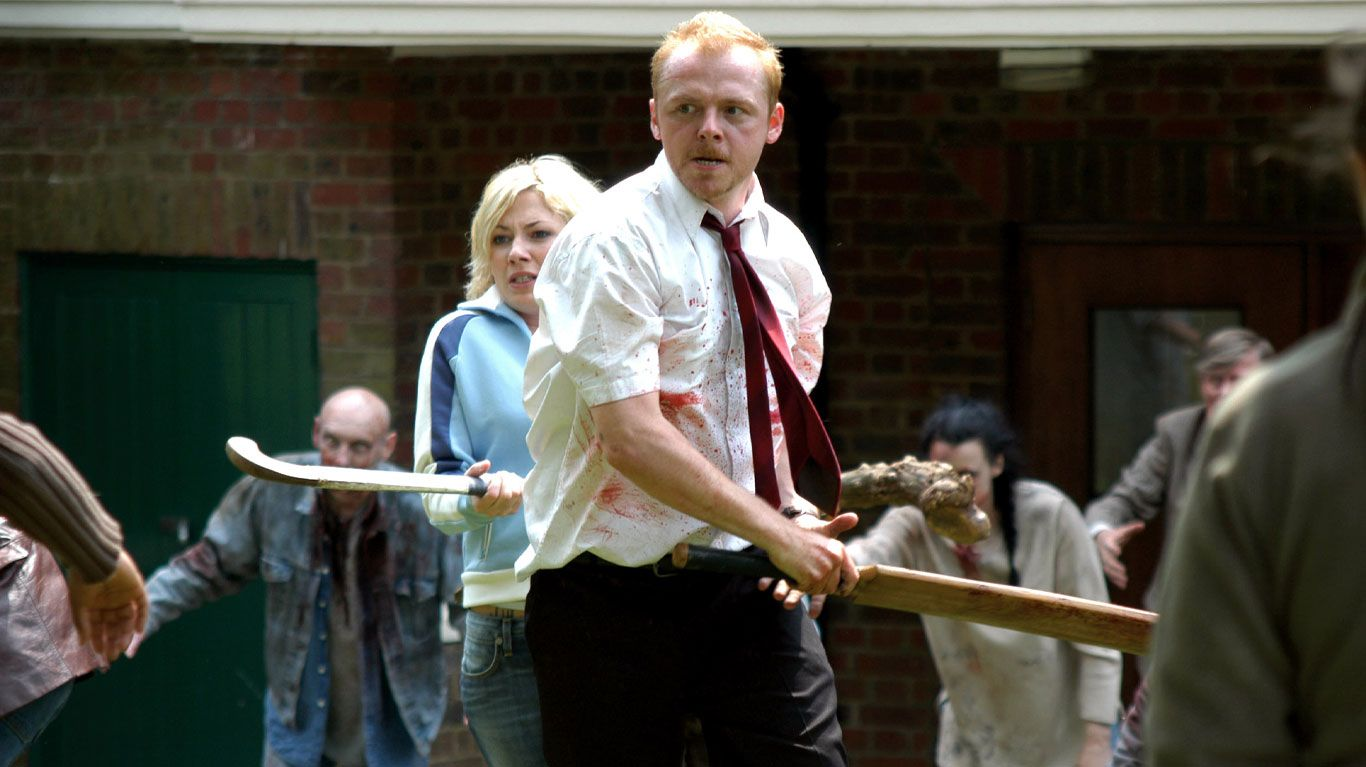 """Kate Ashfield and Simon Pegg in """"Shaun of the Dead."""""""