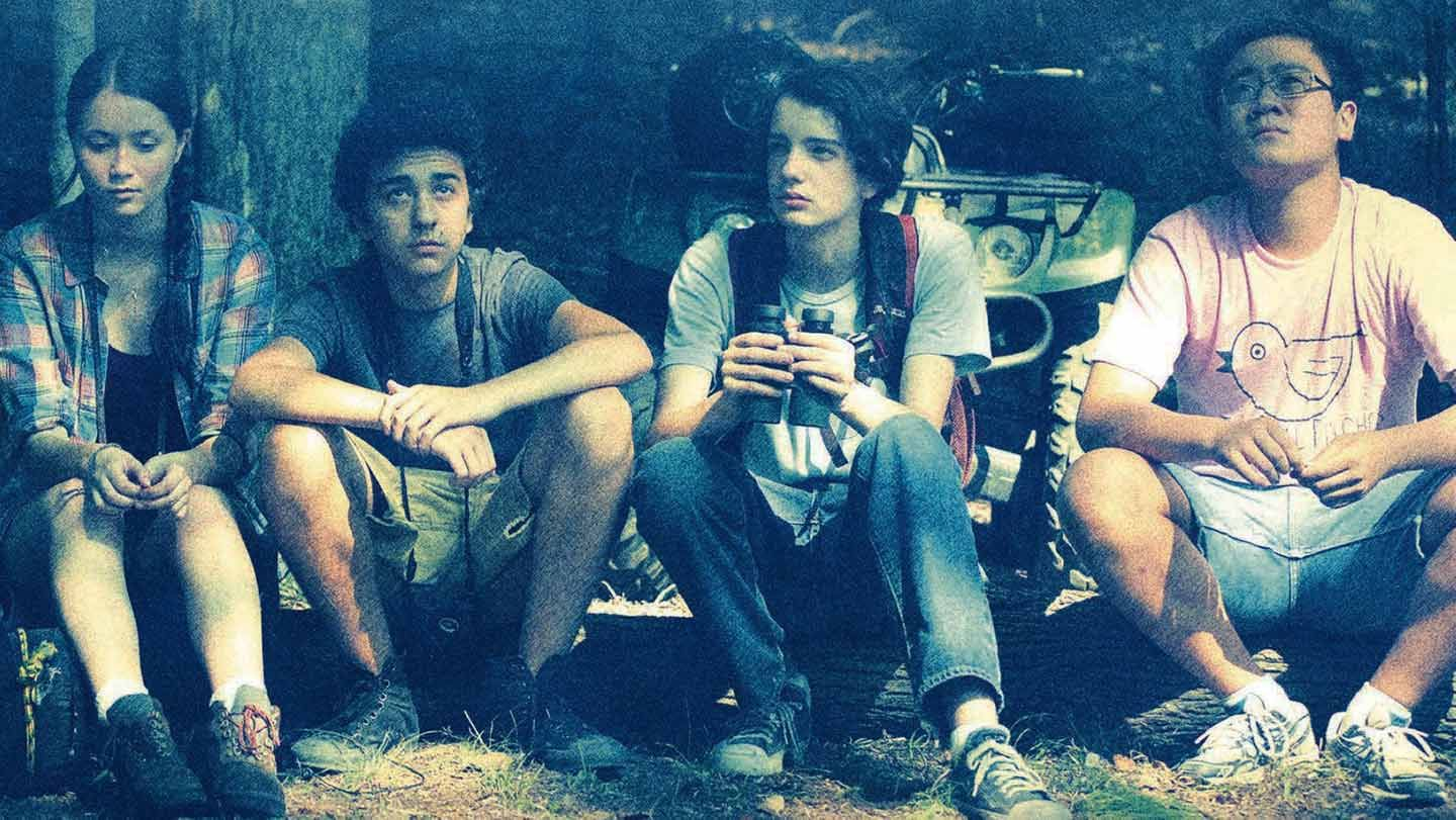 """Katie Chang, Alex Wolff, Kodi Smit-McPhee, and Michael Chen in """"A Birder's Guide to Everything."""""""