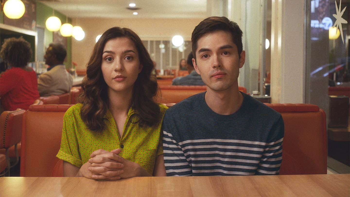 """Katie Findlay and James Sweeney in """"Straight Up."""""""