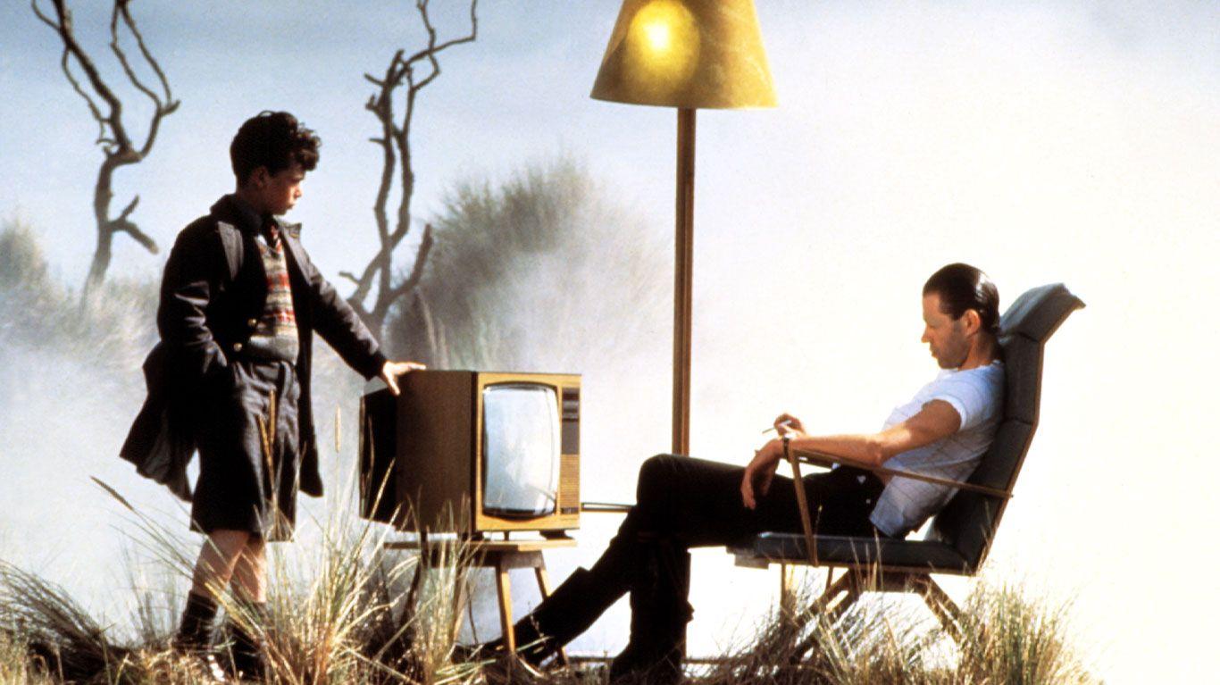 "Kevin McKeon and Bob Geldof in ""Pink Floyd - The Wall."""