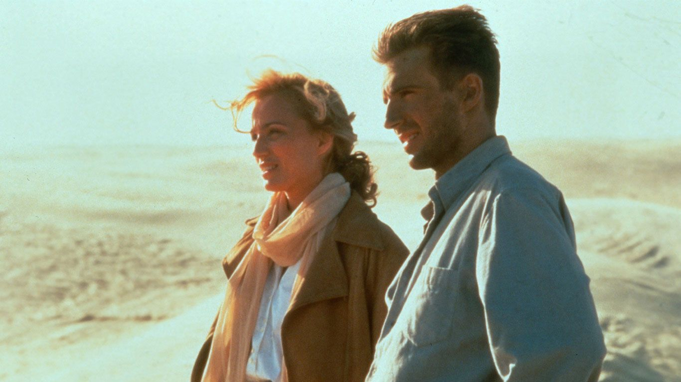 """Kristin Scott Thomas and Ralph Fiennes in """"The English Patient."""""""