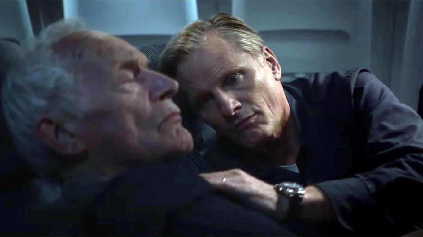 "Lance Henriksen and Viggo Mortensen in ""Falling."""