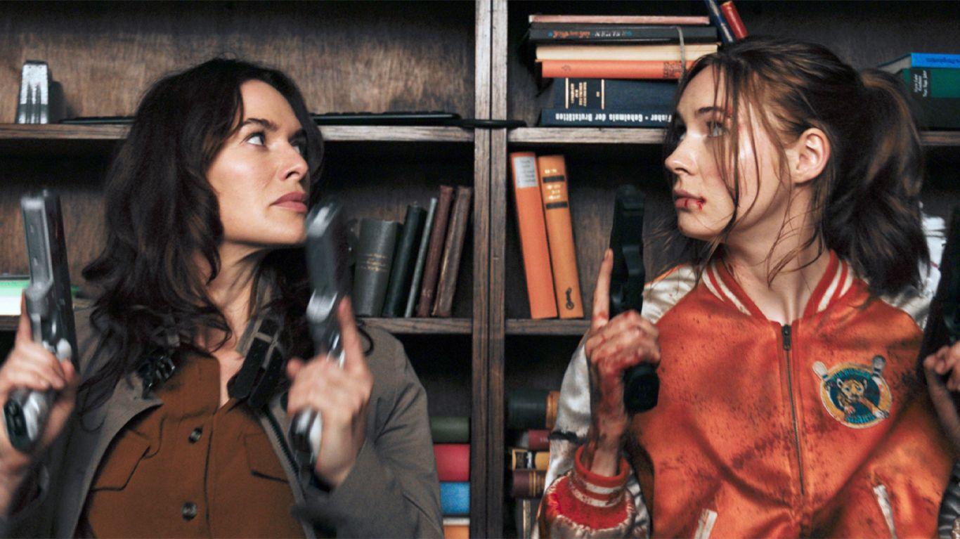 """Lena Headey and Karen Gillan in """"Gunpowder Milkshake."""""""