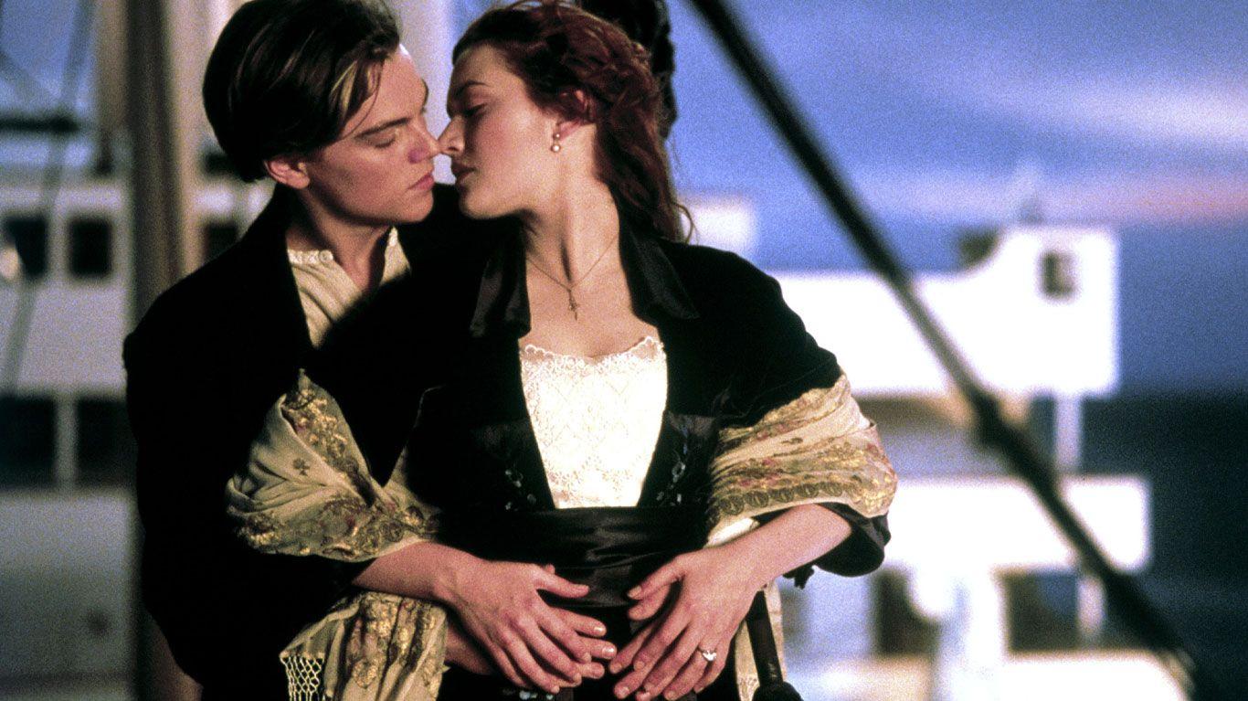 """Leonardo Di Caprio and Kate Winslet in """"Titanic."""""""