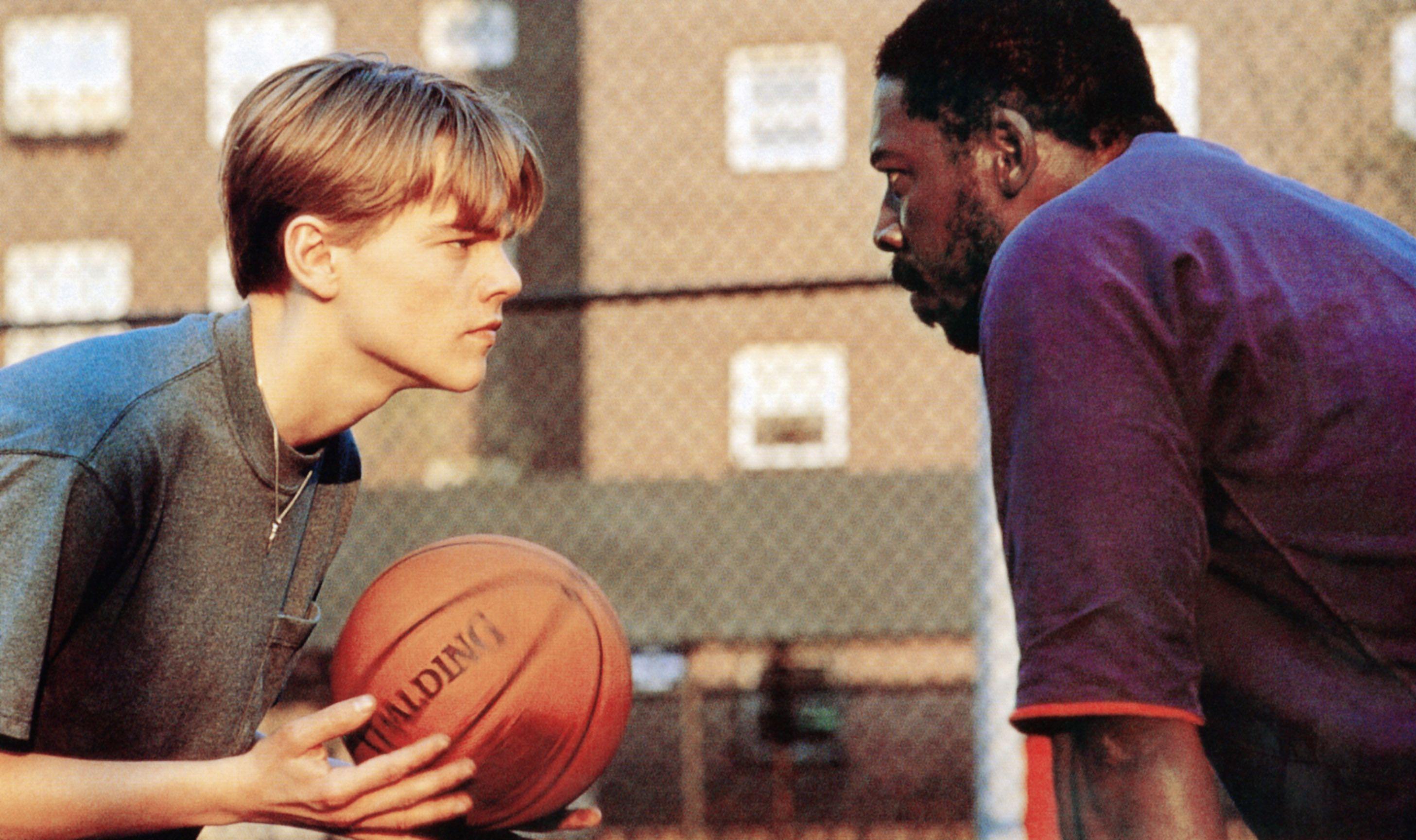 "Leonardo DiCaprio and Ernie Hudson in ""The Basketball Diaries."""