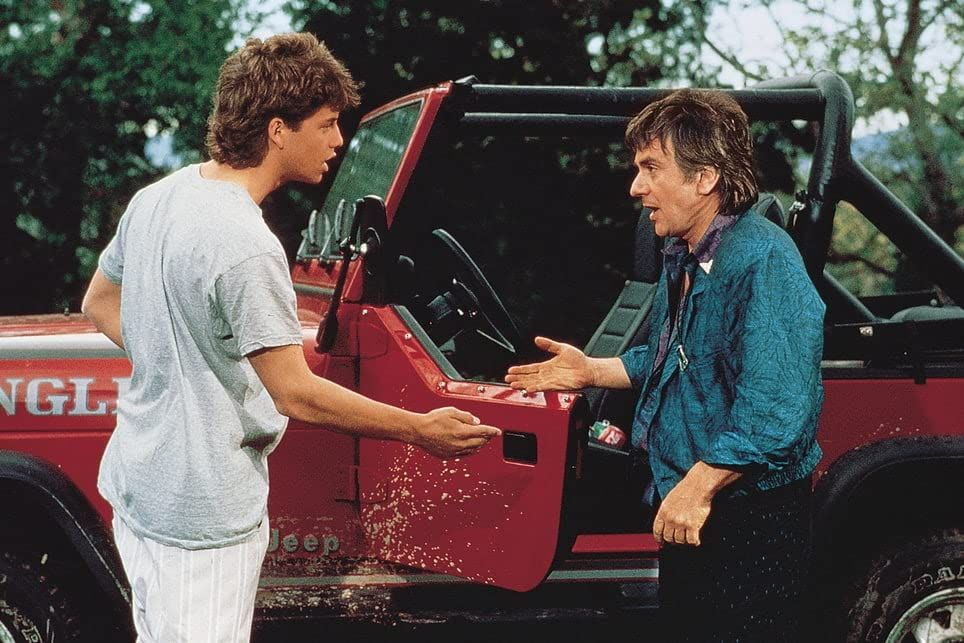 """Kirk Cameron and Dudley Moore in """"Like Father, Like Son."""""""