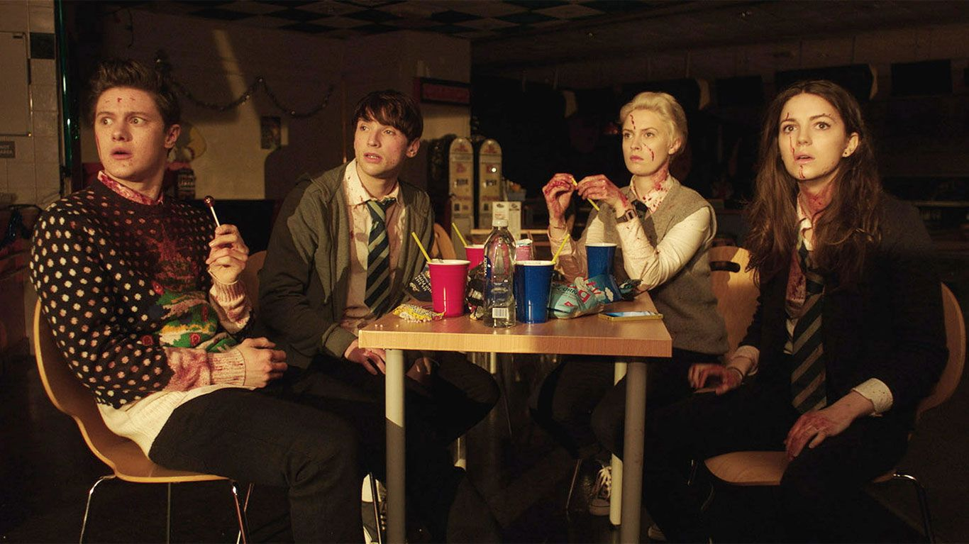 """Malcolm Cumming, Christopher Leveaux, Sarah Swire, Ella Hunt in """"Anna and the Apocalypse."""""""