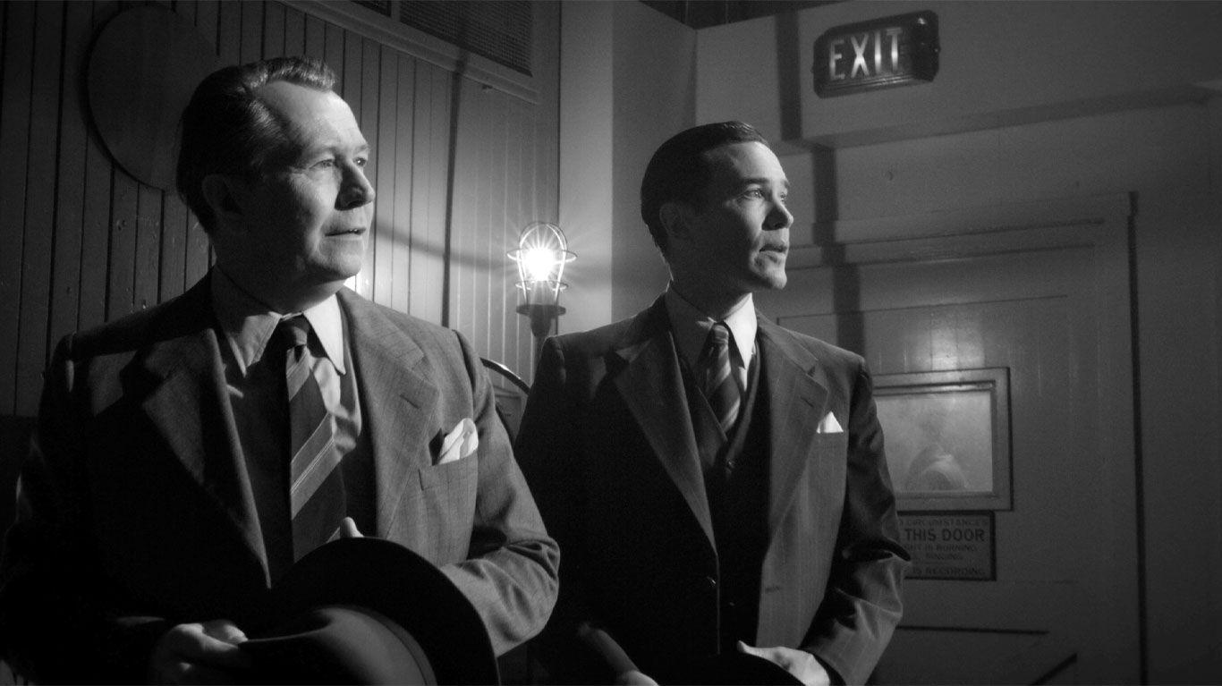 "Gary Oldman and Tom Pelphrey in ""Mank."""
