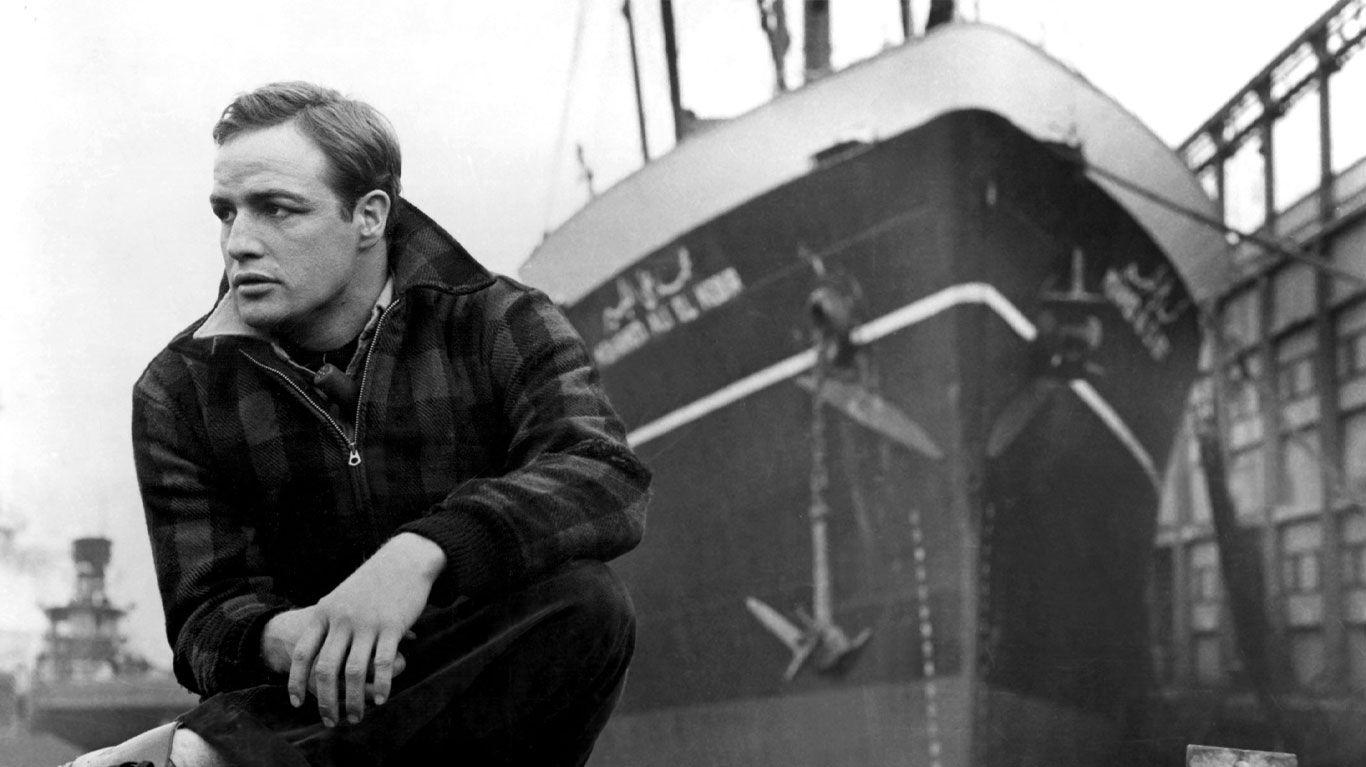 "Marlon Brando in ""On the Waterfront."""