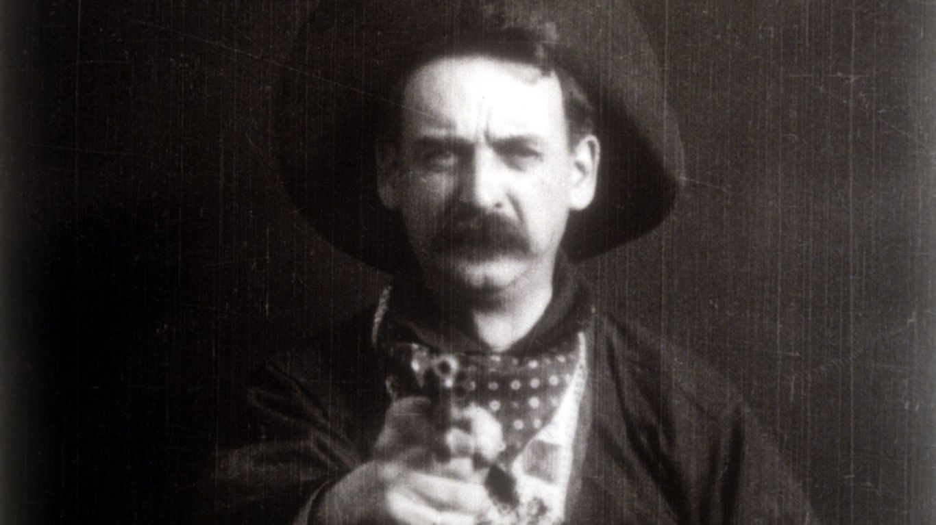 """Max Aronson in """"The Great Train Robbery."""""""