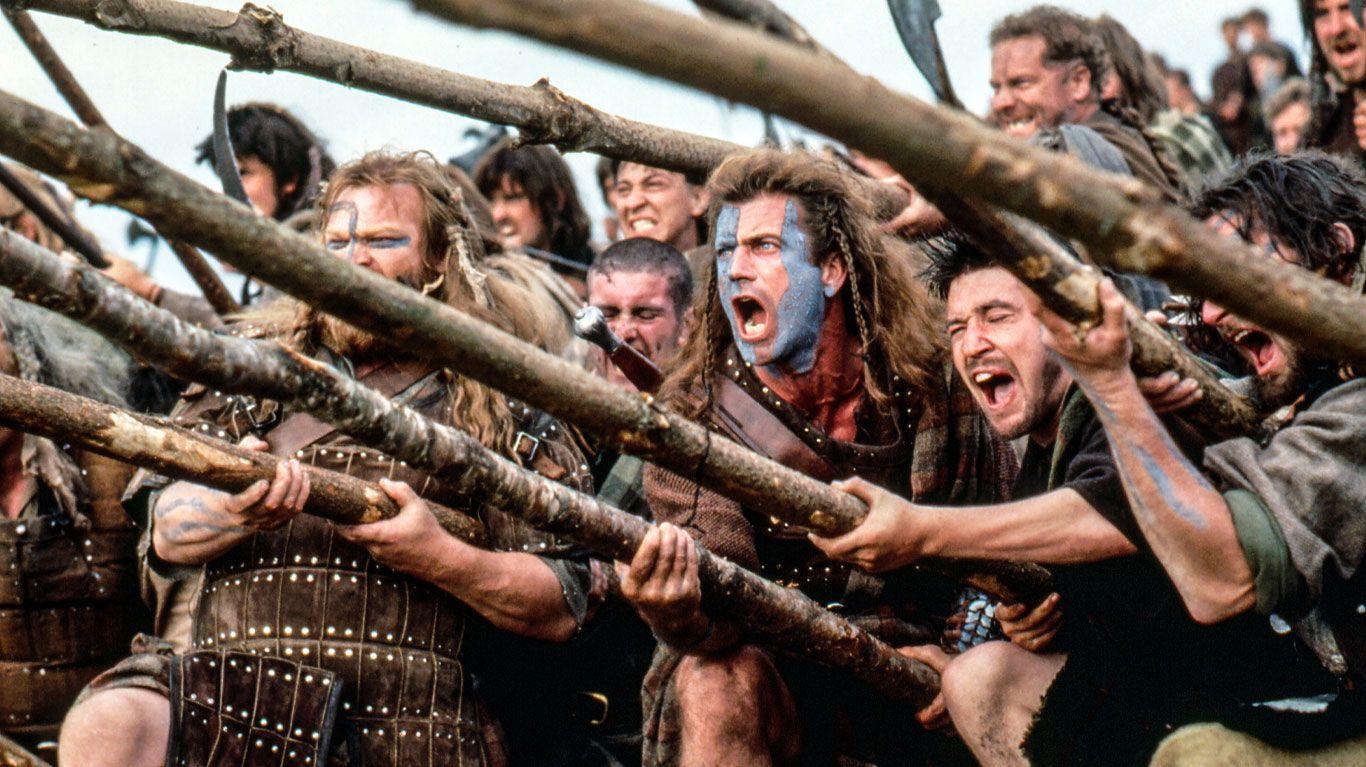"Mel Gibson in ""Braveheart."""