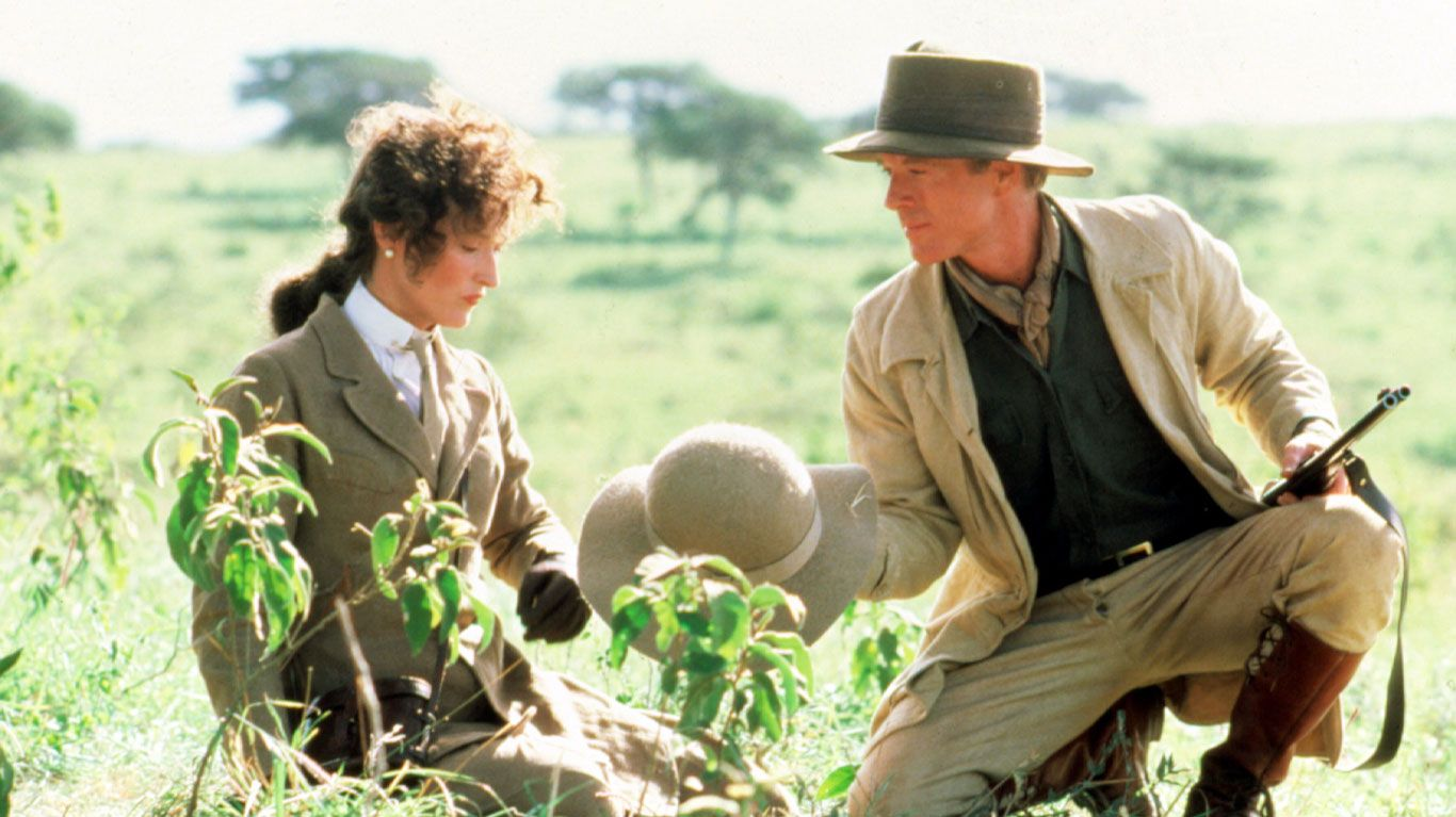 """Meryl Streep and Robert Redford in """"Out of Africa."""""""