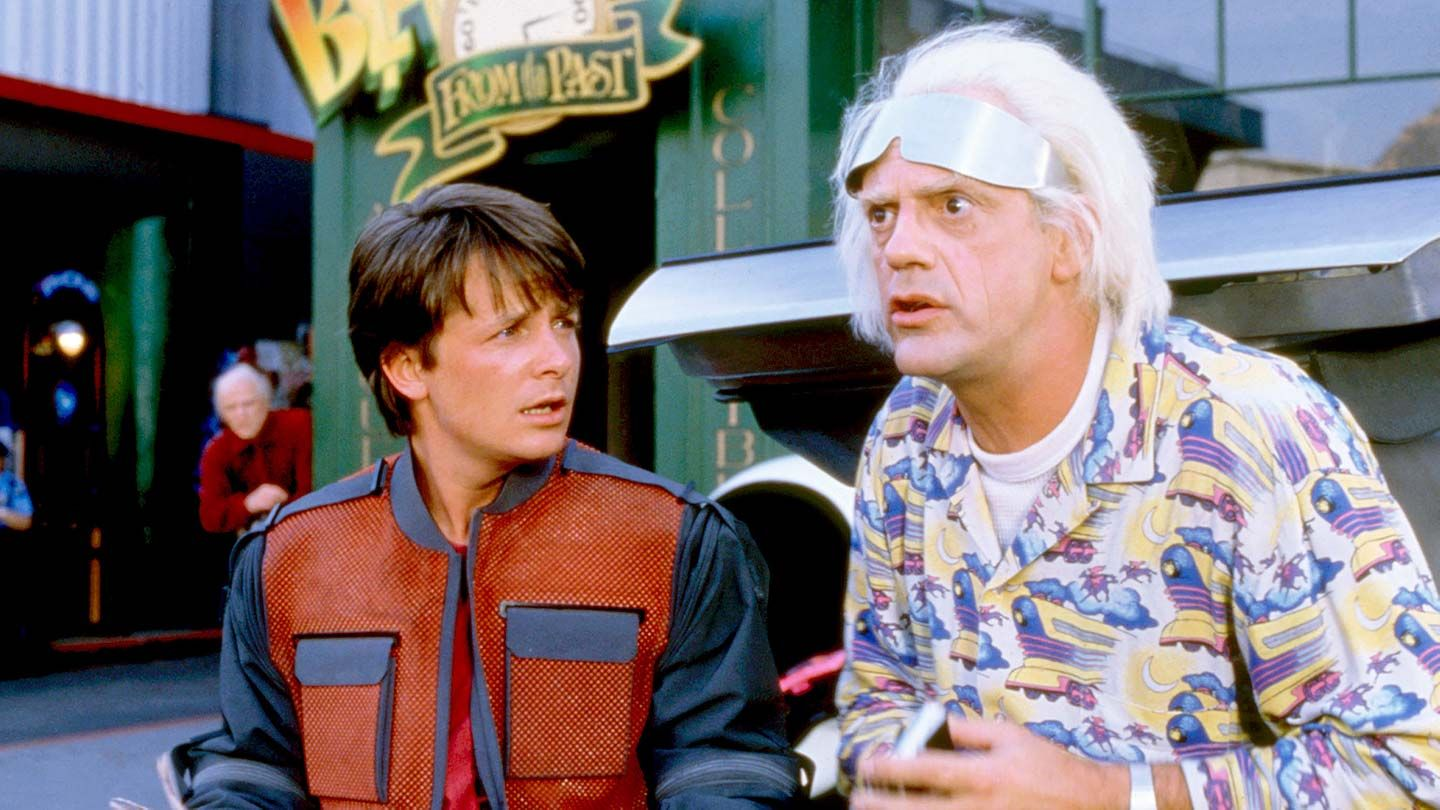 """Michael J. Fox and Christopher Lloyd in """"Back to the Future Part II."""""""