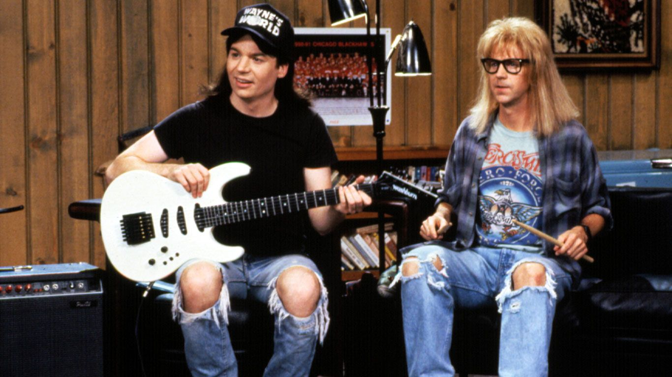 """Mike Myers and Dana Carvey in """"Wayne's World."""""""