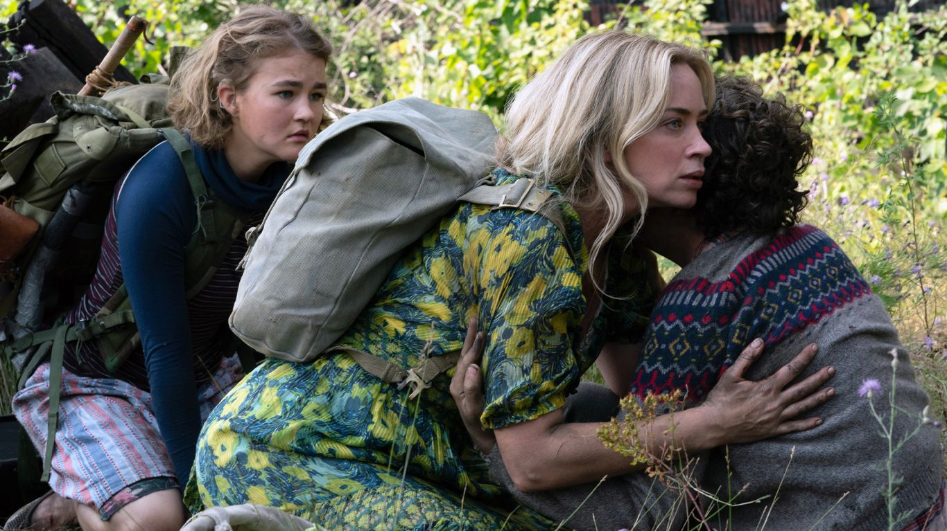 """Millicent Simmonds, Emily Blunt and Noah Jupe in """"A Quiet Place: Part II."""""""