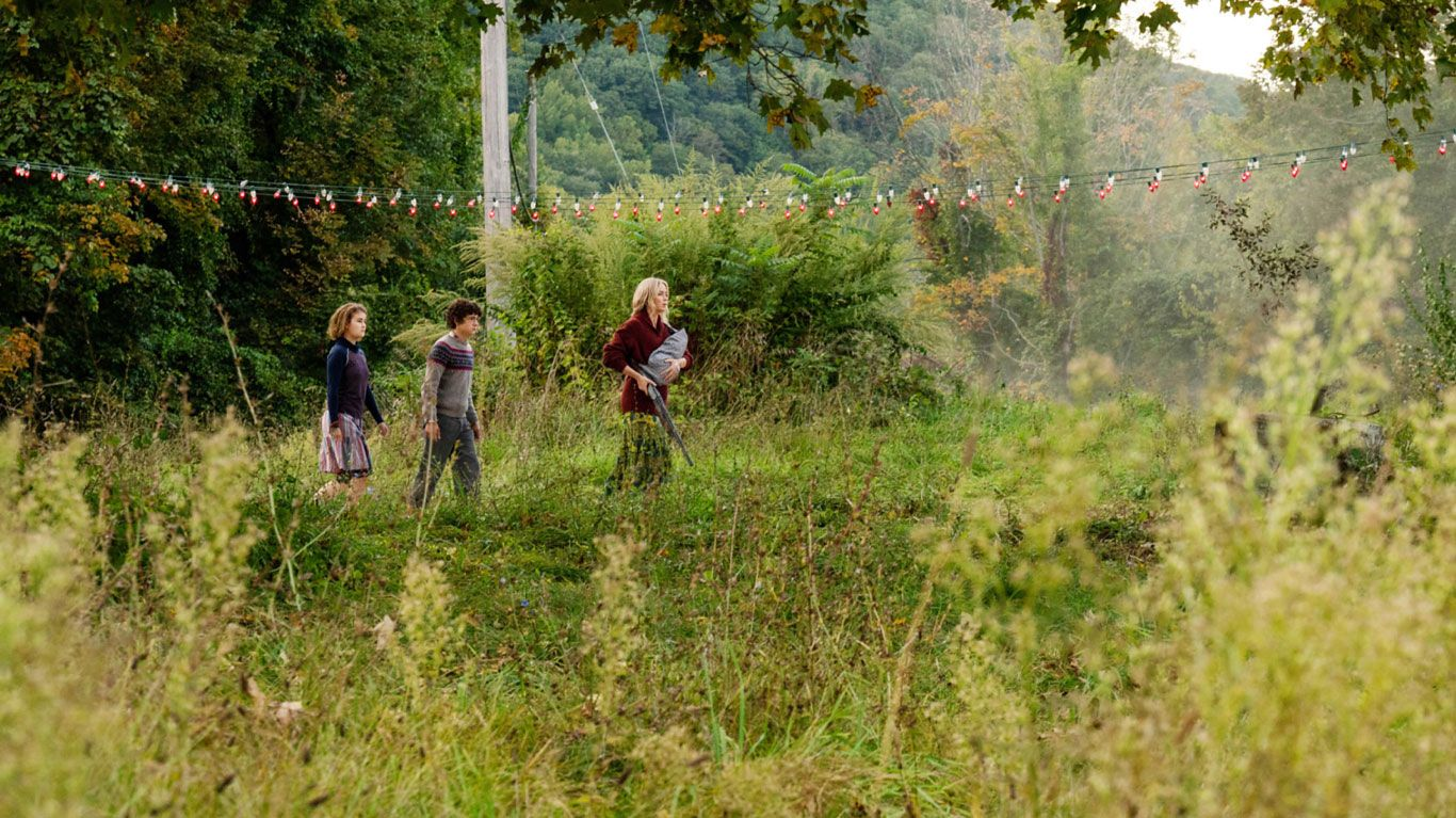"Millicent Simmonds, Noah Jupe, Emily Blunt in ""A Quiet Place: Part II."""
