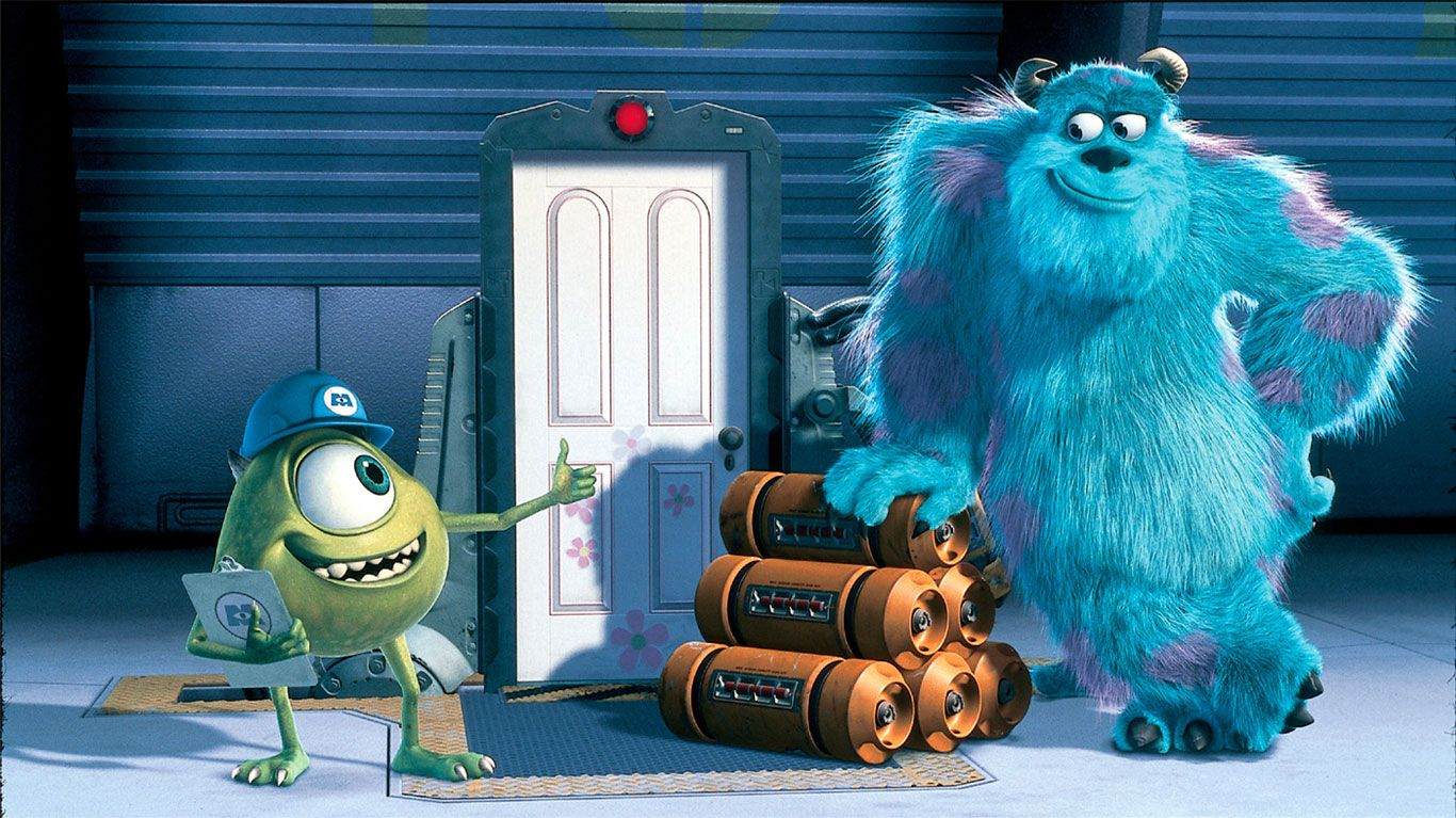 """Mike Wazowski, Sulley in """"Monsters Inc."""""""