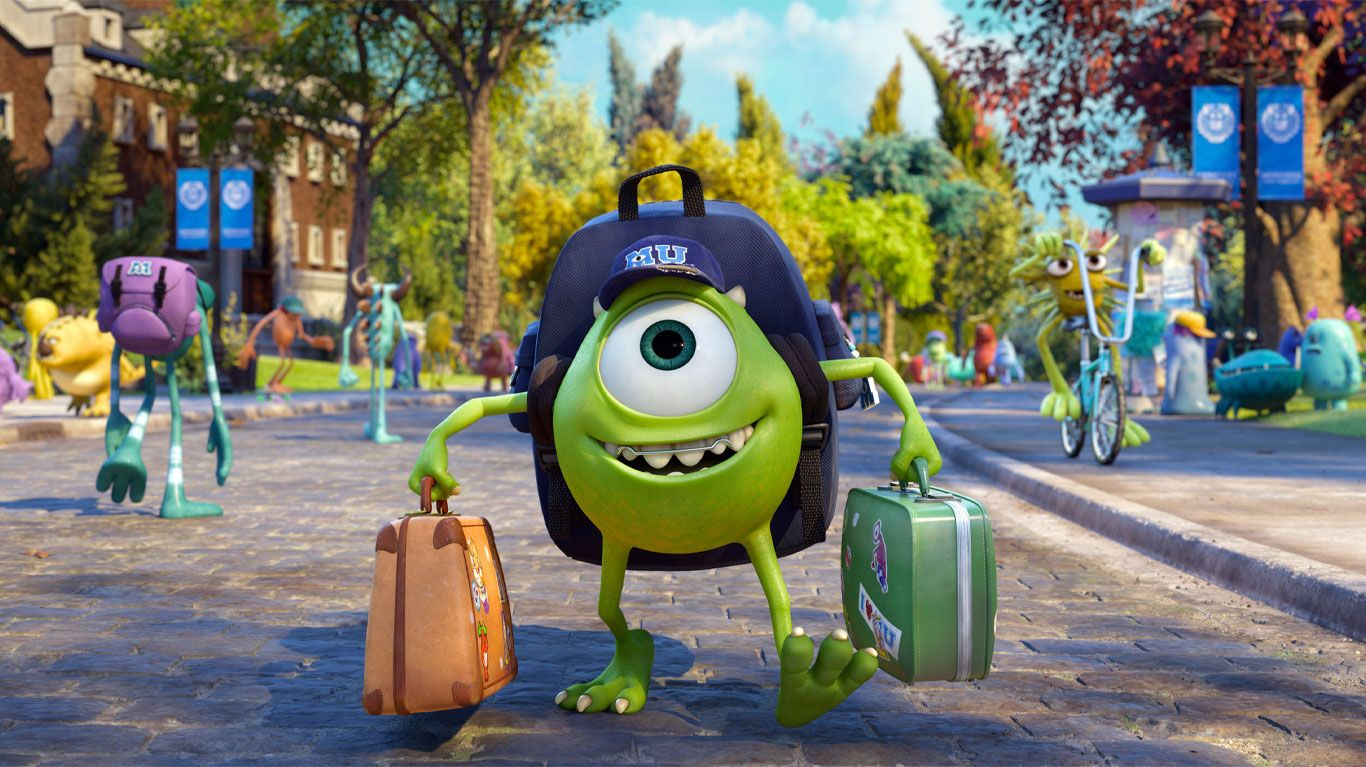 """Mike (voice: Billy Crystal) in """"Monsters University."""""""