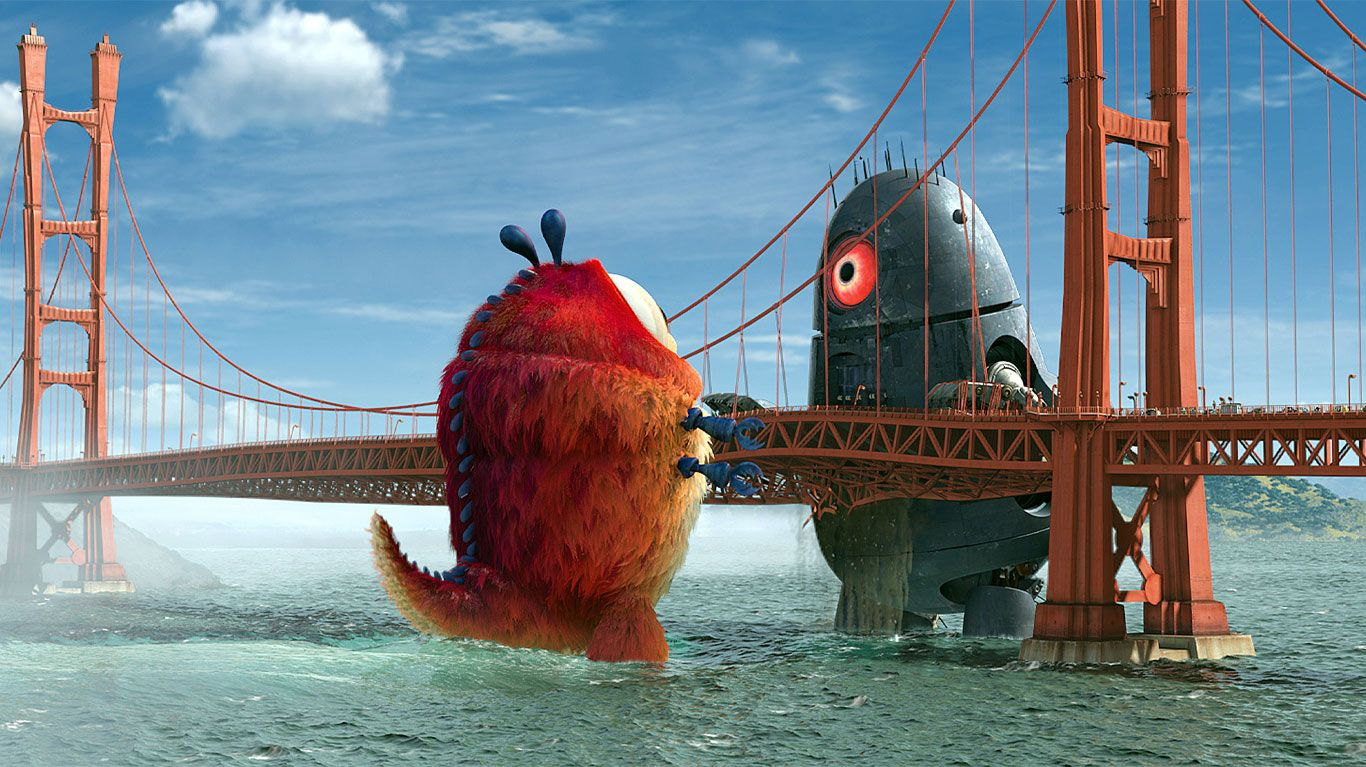 """Insectosaurus faces the alien threat in """"Monsters vs. Aliens."""""""