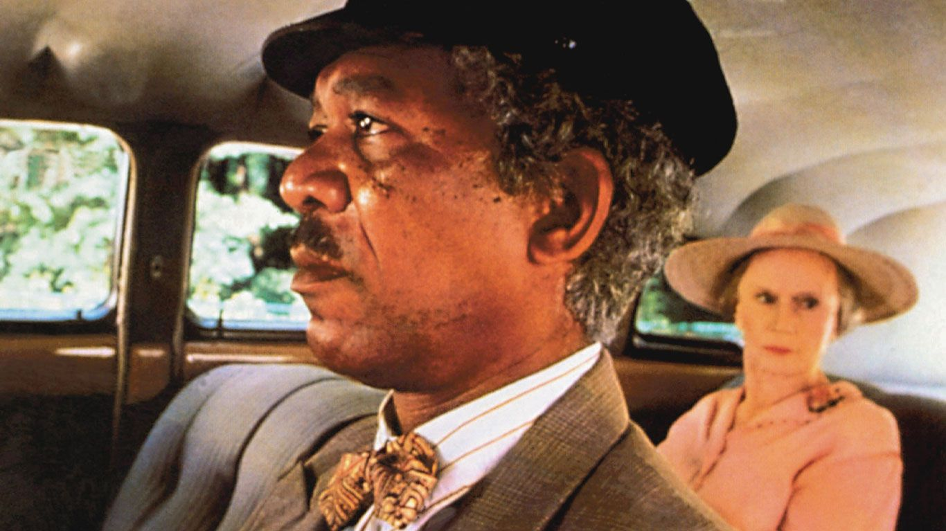 """Morgan Freeman and Jessica Tandy in """"Driving Miss Daisy."""""""