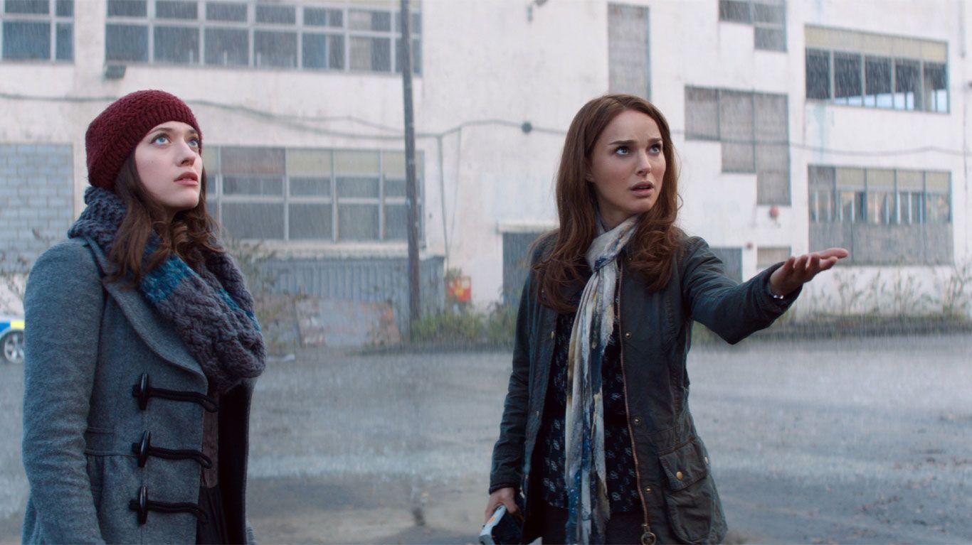 "Kat Dennings and Natalie Portman in ""Thor: The Dark World."""