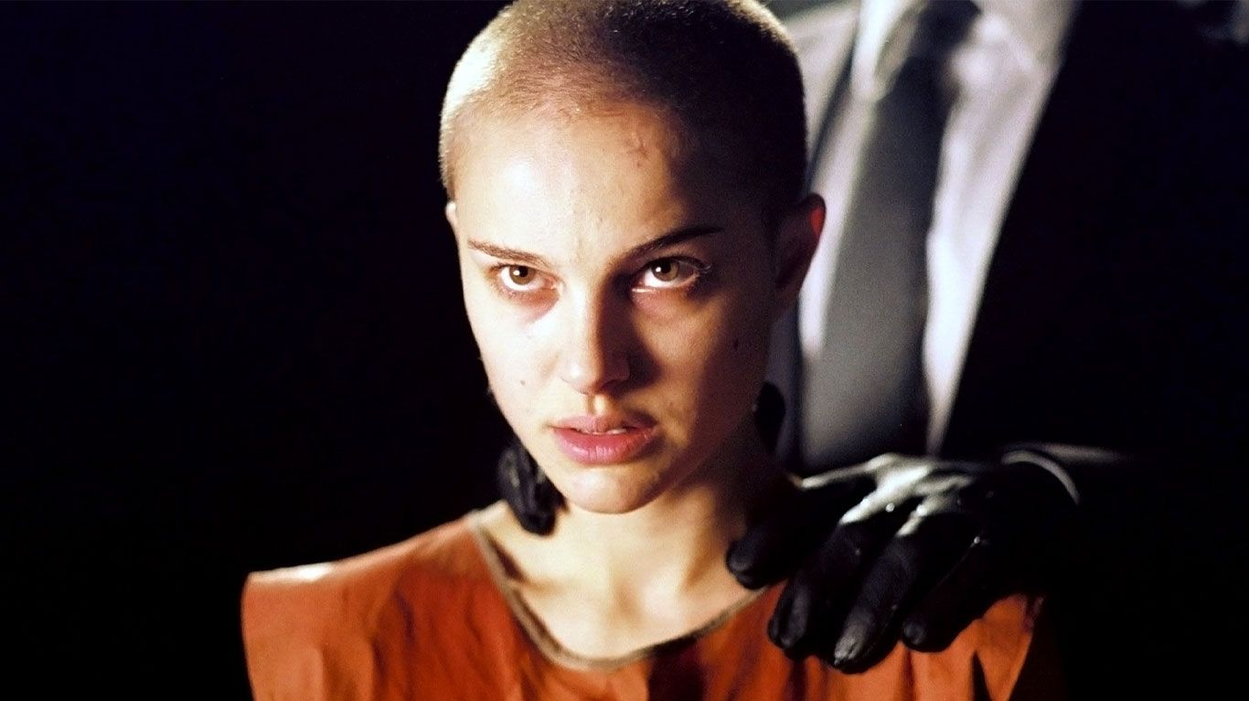 "Natalie Portman in ""V for Vendetta."""
