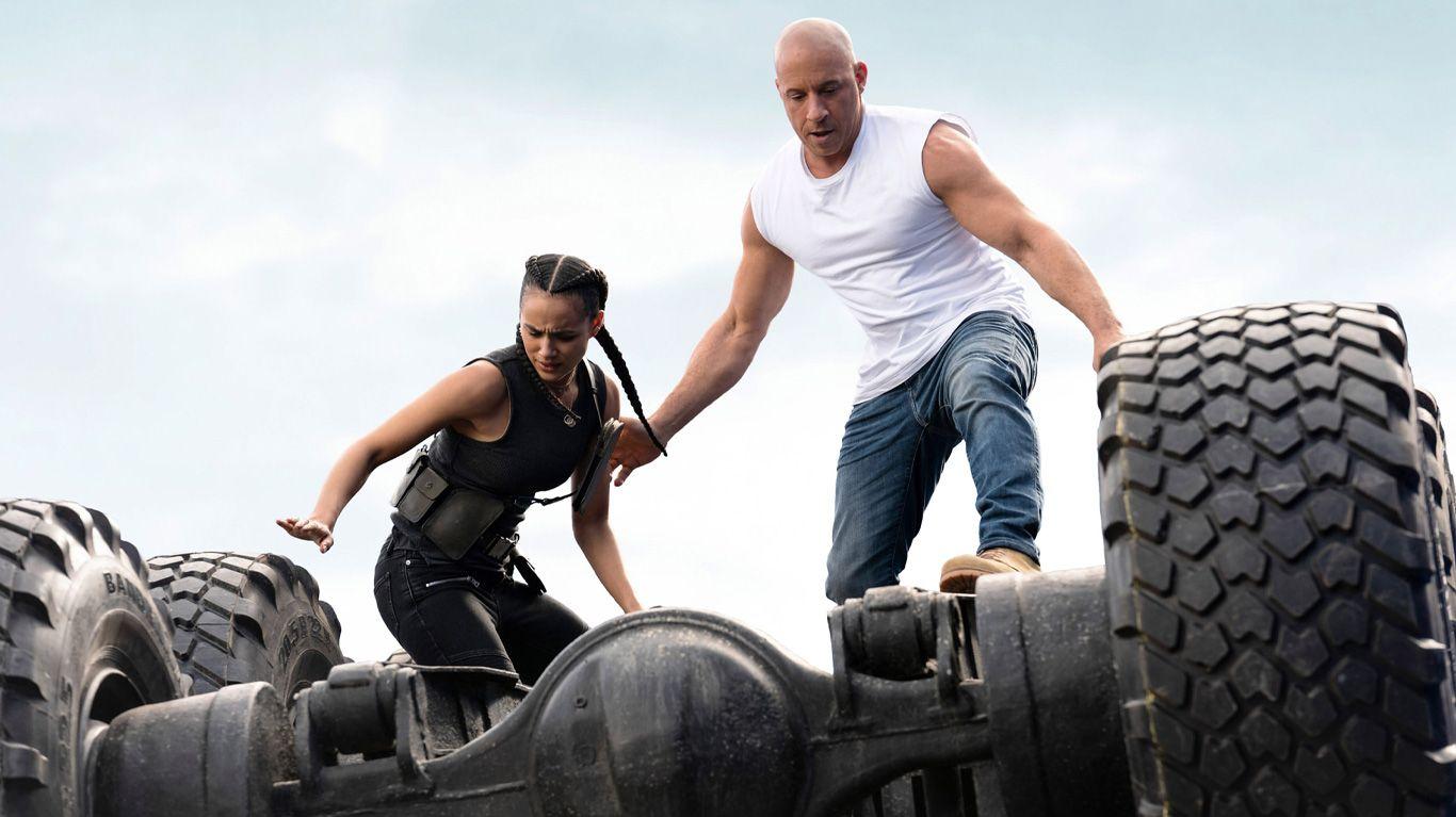 """Nathalie Emmanuel and Vin Diesel in """"F9."""""""