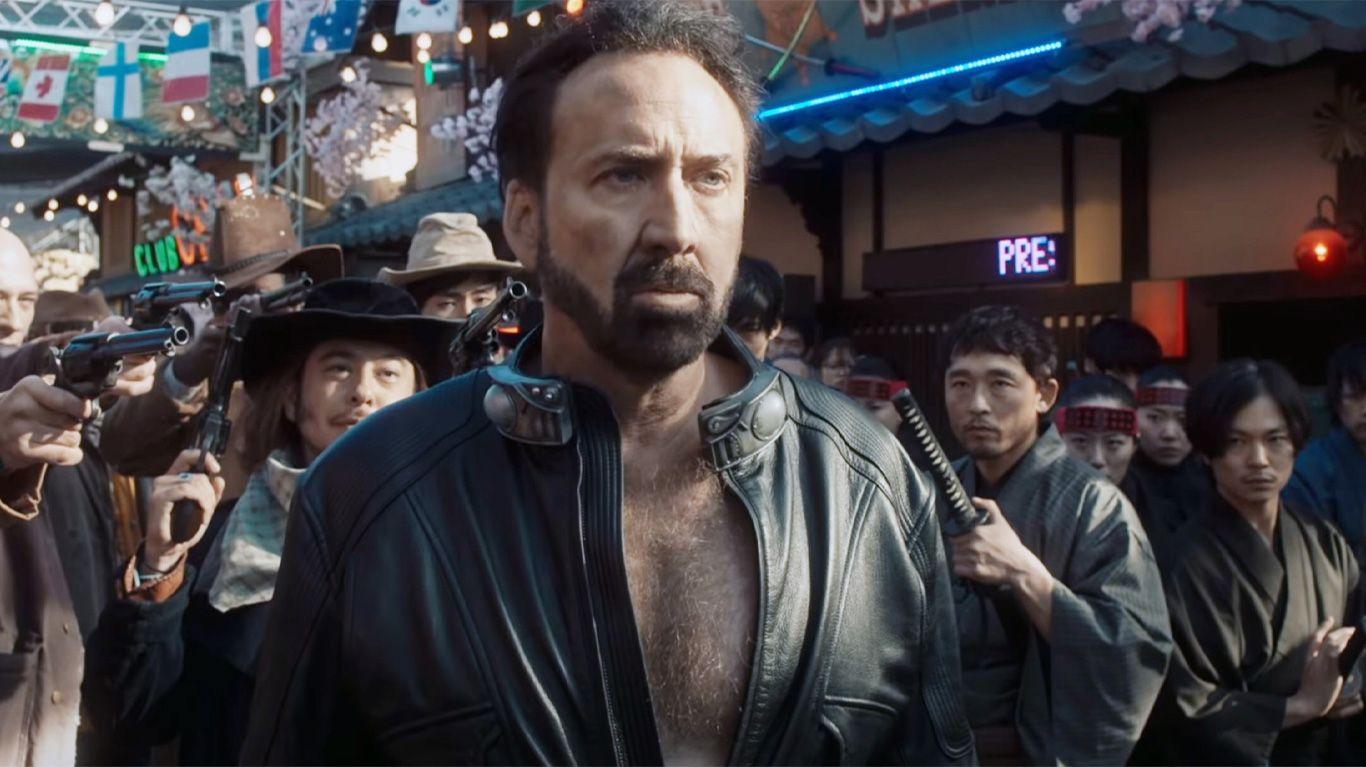 "Nicolas Cage in ""Prisoners of the Ghostland."""