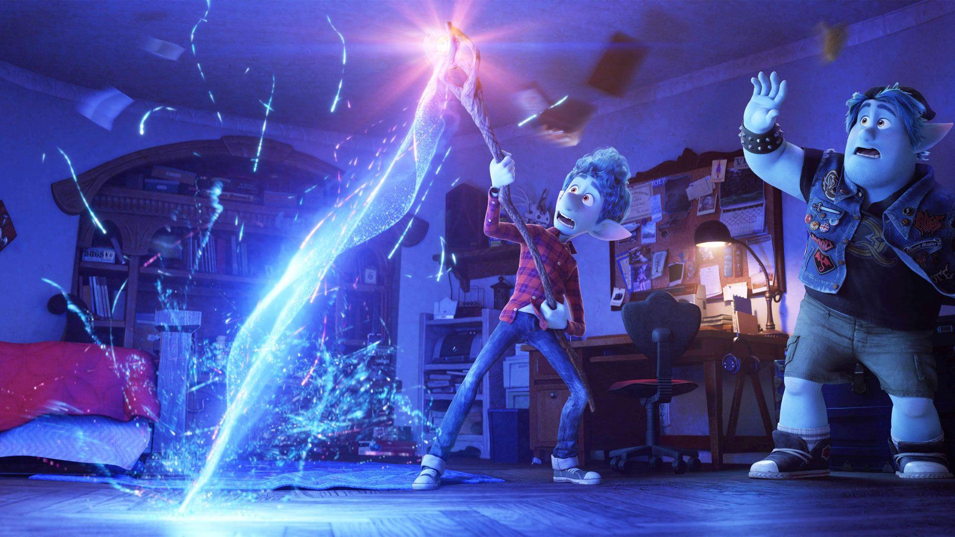 "Ian Lightfoot (voice: Tom Holland), Barley Lightfoot (voice: Chris Pratt) in ""Onward."""