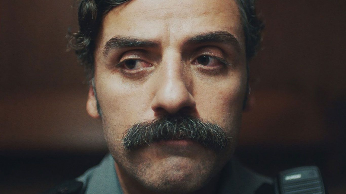 """Oscar Isaac in poster art for """"The Letter Room."""""""